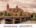 salamanca  spain  the old town  ... | Shutterstock . vector #645139372
