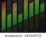 equalizer. 3d illustration.... | Shutterstock . vector #645140722