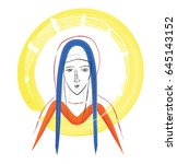 Blessed Virgin Mary Sketch ...
