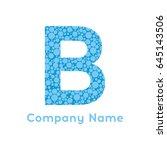 letter b bubbles vector.... | Shutterstock .eps vector #645143506