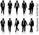 set silhouette businessman man... | Shutterstock . vector #645148762