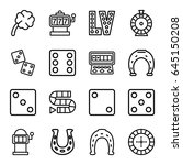 lucky icons set. set of 16...   Shutterstock .eps vector #645150208