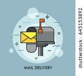 yellow envelope in opened... | Shutterstock .eps vector #645153892