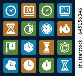 second icons set. set of 16... | Shutterstock .eps vector #645156346