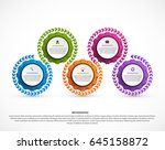 abstract gears infographic.... | Shutterstock .eps vector #645158872