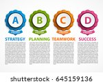 abstract gears infographic.... | Shutterstock .eps vector #645159136