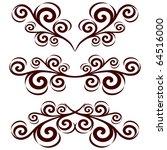 vector illustration of a set of ... | Shutterstock .eps vector #64516000