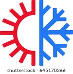 heating and cooling | Shutterstock .eps vector #645170266