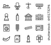 nobody icons set. set of 16... | Shutterstock .eps vector #645173296