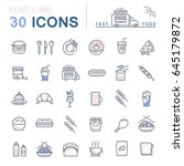 set line icons in flat design... | Shutterstock . vector #645179872