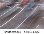 left turn lanes | Shutterstock . vector #645181222