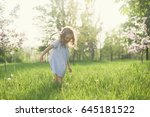 toddler girl have good day on... | Shutterstock . vector #645181522