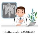 doctor explaining the bones | Shutterstock .eps vector #645182662