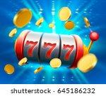 big win slots 777 banner casino.... | Shutterstock .eps vector #645186232