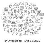 sketch infographic business... | Shutterstock .eps vector #645186532