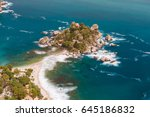 beautiful island of isola bella ... | Shutterstock . vector #645186832