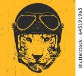 Portrait Of Tiger With Vintage...
