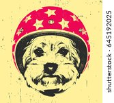 portrait of yorkshire terrier... | Shutterstock .eps vector #645192025