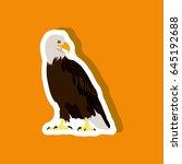 paper sticker on stylish... | Shutterstock .eps vector #645192688