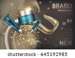 cosmetic cream package set....   Shutterstock .eps vector #645192985