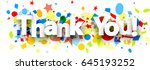 thank you paper background with ... | Shutterstock .eps vector #645193252
