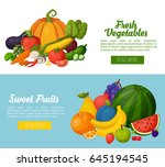 template for cooking ... | Shutterstock .eps vector #645194545