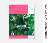 brochure template. tropical... | Shutterstock .eps vector #645194896