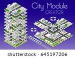 city module creator isometric... | Shutterstock .eps vector #645197206