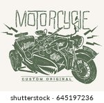 military motorcycle whith... | Shutterstock .eps vector #645197236