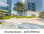 empty road and modern business... | Shutterstock . vector #645198916