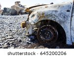 Car That Burned On The Ocean...
