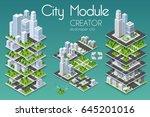 city module creator isometric... | Shutterstock .eps vector #645201016
