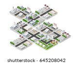 city isometric concept of urban ... | Shutterstock .eps vector #645208042