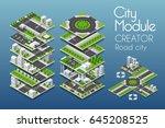 city module creator isometric... | Shutterstock .eps vector #645208525
