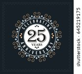 25 years anniversary design... | Shutterstock .eps vector #645219175