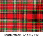 macro of checkered cloth  can... | Shutterstock . vector #645219442