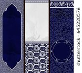 set of vertical banners in the... | Shutterstock . vector #645220576