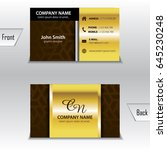 business card template gold | Shutterstock .eps vector #645230248