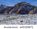snow in the desert   red rock... | Shutterstock . vector #645230872