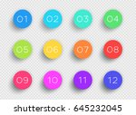 number bullet point colorful 3d ... | Shutterstock .eps vector #645232045