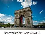 arc de triomphe  paris  france   Shutterstock . vector #645236338