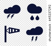 storm icons set. set of 4 storm ...   Shutterstock .eps vector #645237292