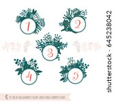 set with calligraphic figures... | Shutterstock .eps vector #645238042