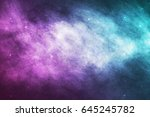 vector realistic cosmic galaxy... | Shutterstock .eps vector #645245782