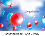 vector balloons fly above the... | Shutterstock .eps vector #64524907