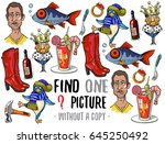 find one picture without a copy....   Shutterstock .eps vector #645250492