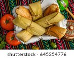 Tamales  Mexican Dish Made Wit...