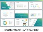 business presentation design... | Shutterstock .eps vector #645260182