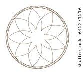 outline flower frame natural... | Shutterstock .eps vector #645271516