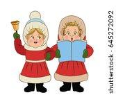 Cartoon Woman Christmas...